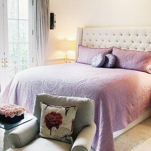 Matelasse Queen Jacquard Bedspread with Shams